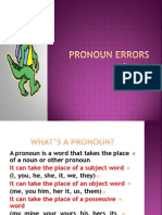Pronoun Errors