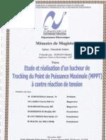 Etude et realisation d'un hacheur de Tracking du Point de Puissance Maximale (MPPT) a contre reaction de tension