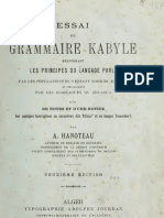Essai de Grammaire Kabyle - Adolphe Hanoteau 1906