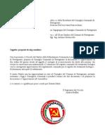 lettera presentazione odg