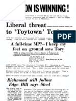 Liberal Party election leaflet - Richmond 1979