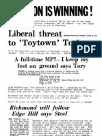 Liberal Party election leaflet - Richmond 1979