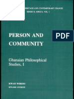 Kwasi Wiredu and Kwame Gyekye - Person and Community - Ghanian Philosophical Studies