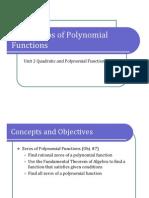 Obj. 7 Zeros of Polynomial Functions (Presentation)