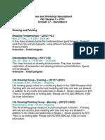 Descriptions Fall II, 2012 and Workshops