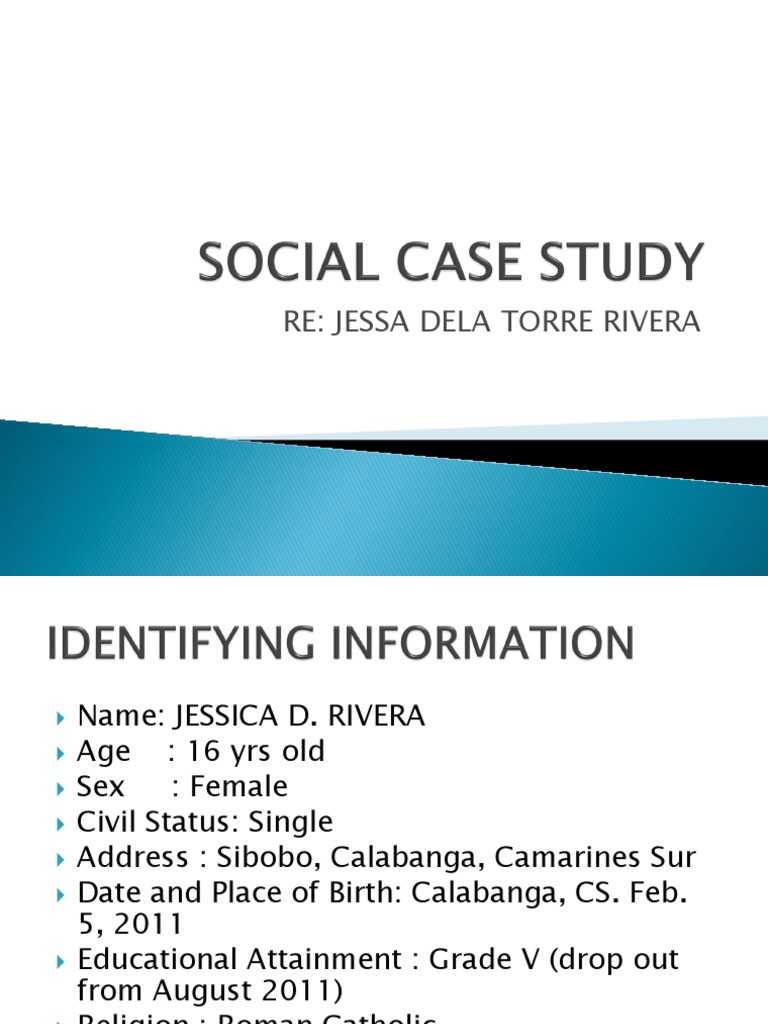sample dswd social case study report