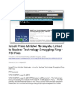 Israeli Prime Minister Netanyahu Linked to Nuclear Technology Smuggling Ring - FBI Files