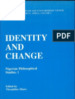 Theophilus Okere (Ed.) - Identity and Change. Nigerian Philosophical Studies I