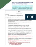 BCA Building Control Act With Amendments 2007[1]