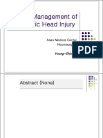 Current Management of Traumatic Head Injury