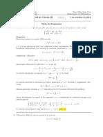 Corrección Primer Parcial Cálculo III, 1 de octubre 2012