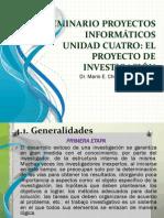 UNIDAD 4 EL PROYECTO DE INVESTIGACIÓN