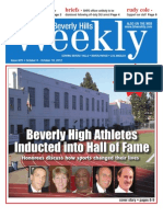 Beverly High Athletes Inducted into Hall of Fame--Beverly Hills Weekly, Issue #679