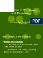MICRO - Lecture 1 Introduction to Microbiology and Parasitology (1)