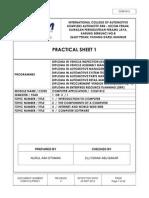 Practical Sheet 1