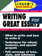 Schaum's Quick Guide to Essay Writing