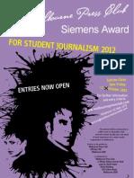 Student Journalism Award Poster 2012