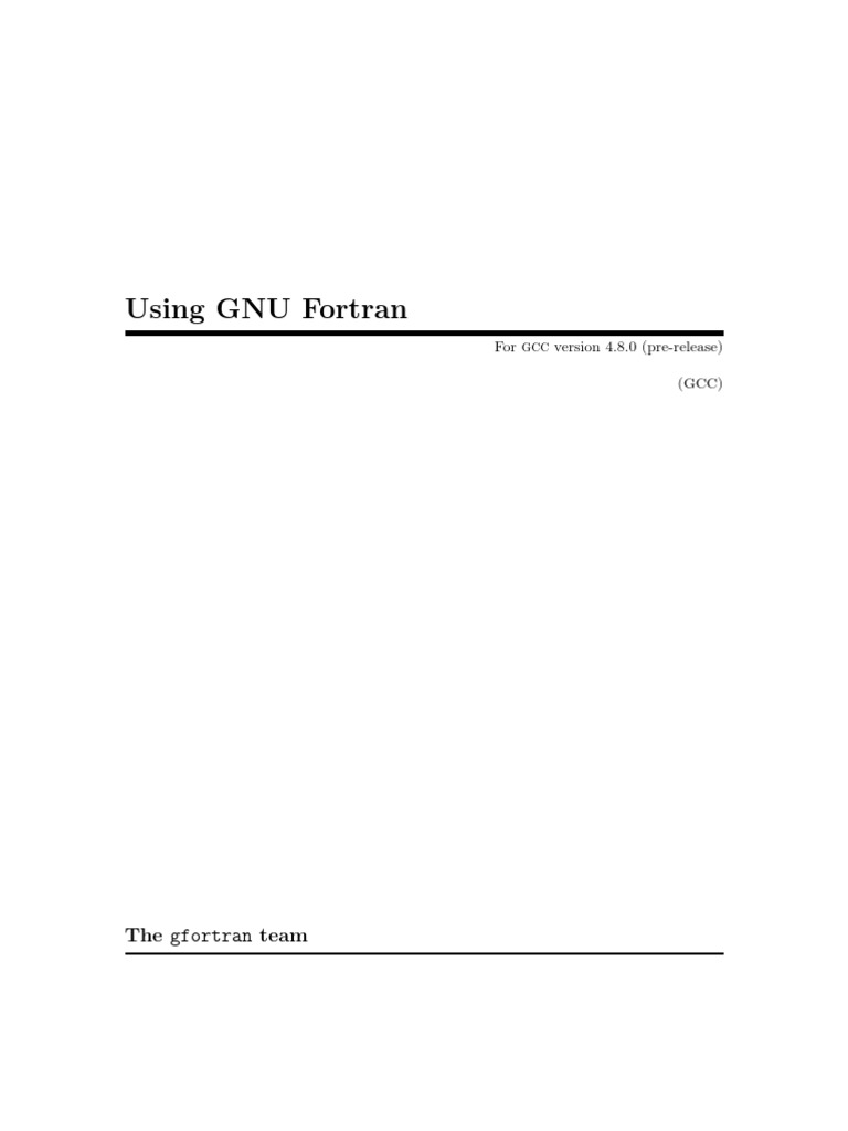 g Fortran | Compiler | Source Code