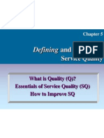 Defining&Managing Service Quality
