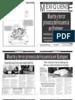 Versión impresa del periódico El mexiquense 4 de octubre 2012
