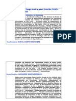 CURRÍCULOS da DIRETORIA SBED 2013-14