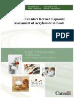 Health Canada - Acrylamide Evaluation in Foods