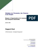 Risques et opportunités de la transmission des entreprises industrielles Janvier 2008