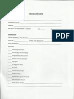 LTFRB Complaint Form