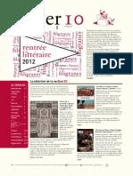 Filiber 10 - La rentrée littéraire 2012 des libraires Filigranes