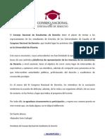 Carta Presidente - CONEDE