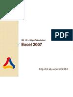 Excel 2007 Kitap 1