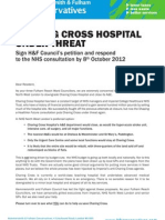 Letter from Fulham Reach Ward Conservative Councillors regarding Charing Cross Hospital