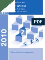 2010 Maths Mark Scheme