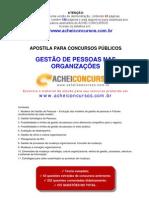 Apostila de Gestão de Pessoas nas Organizações para Concursos