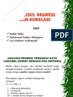 Contoh soal Penyelesaian Analisa Regresi Dan Korelasi - Jurusan Teknik Industri Universitas Mercu Buana 2010