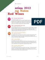 Tim Atkin Argentina Special Wine Report 2012