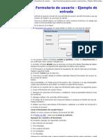 Formulario de Usuario - Ejemplo de Entrada