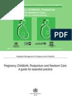 WHO - Pregnancy Childbirth Postpartum and Newborn Care (WHO 2003)