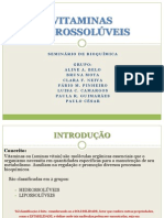 PPT de vitaminas hidrossolúveis