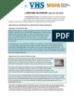 Farm Animal Welfare in Canada Newsletter - Issue 1 - Oct 2012