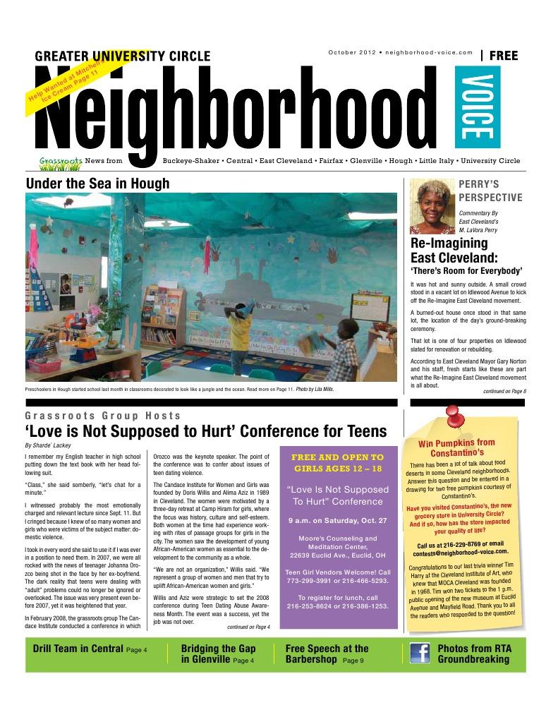 Re-Imagine East Cleveland--Neighborhood Voice, Oct 2012
