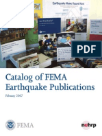 Catalog of FEMA Earthquake Publications