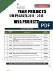 Java Ieee 2012 2013 Titles