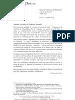 Lettre Ouverte à VIncent Peillon Printemps des poètes 20123