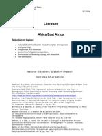 Literature on Disaster Management
