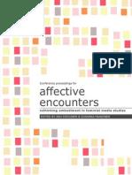 Affective Encounters Proceedings