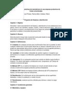Manual de Buenas prácticas de manufactura en una empresa productora de frutas concentradas