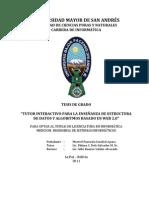 TUTOR INTERACTIVO PARA LA ENSEÑANZA DE ESTRUCTURA DE DATOS Y ALGORITMOS BASADO EN WEB 2.0