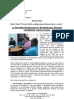 Boletín 076_ La Secretaría Departamental de Salud logra Alianzas estratégicas internacionales
