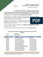 PADRÓN GUERRERO CUMPLE REGIÓN COSTA GRANDE, MUNICIPIO DE ATOYAC DE ÁLVAREZ